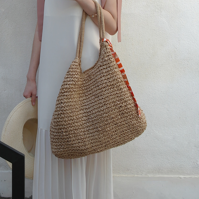 Large Raffia Tote Bag