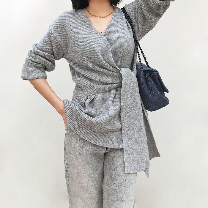 Wrap-Style Sweater