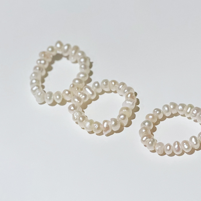Pearl Band Rings (Set of 3)