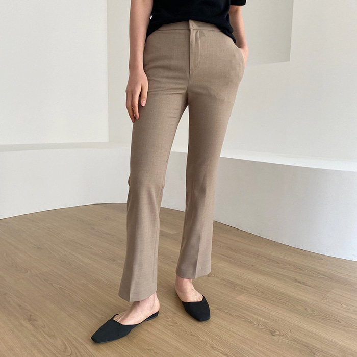 Semi-Flared Banding Trousers