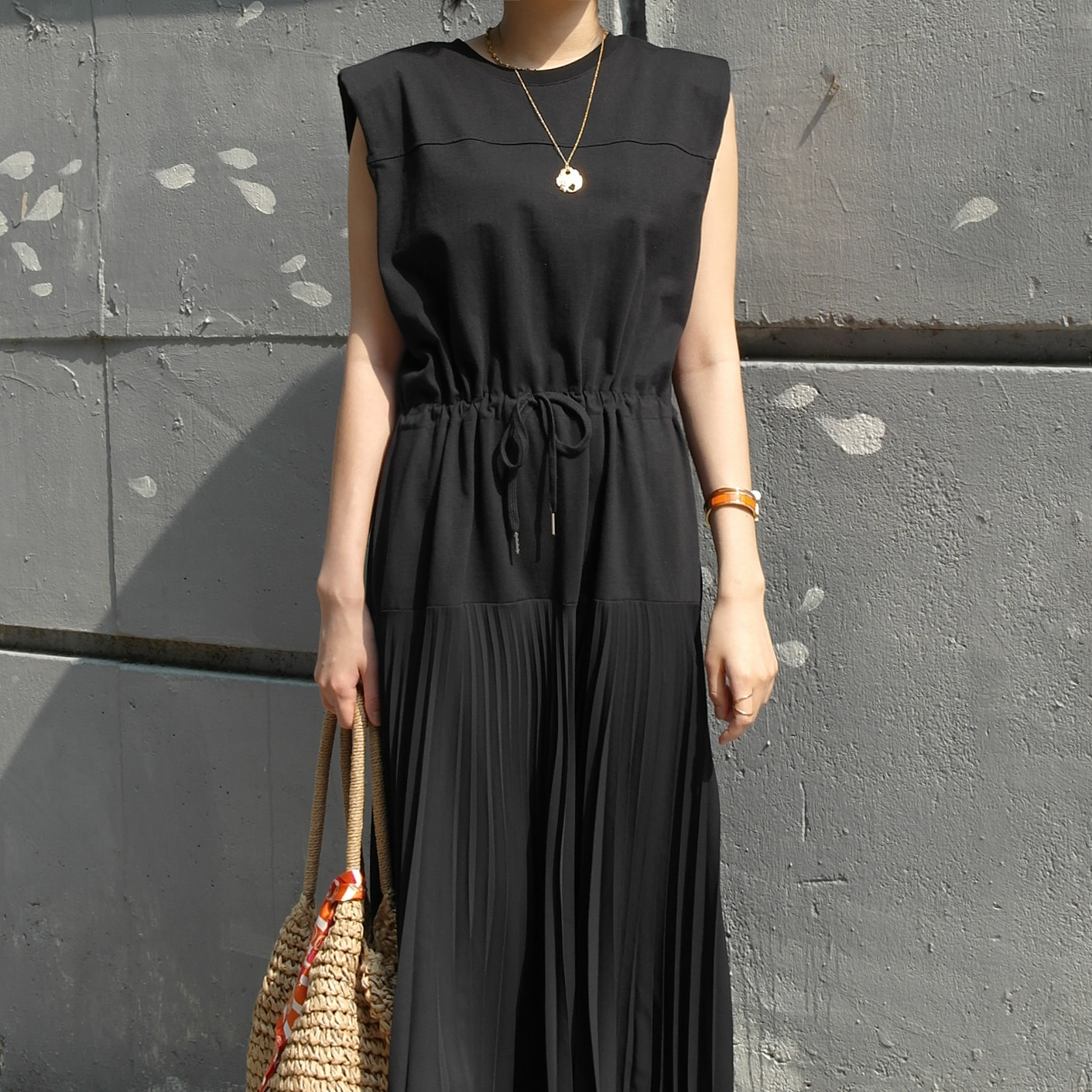 Summer Pleated Maxi Dress
