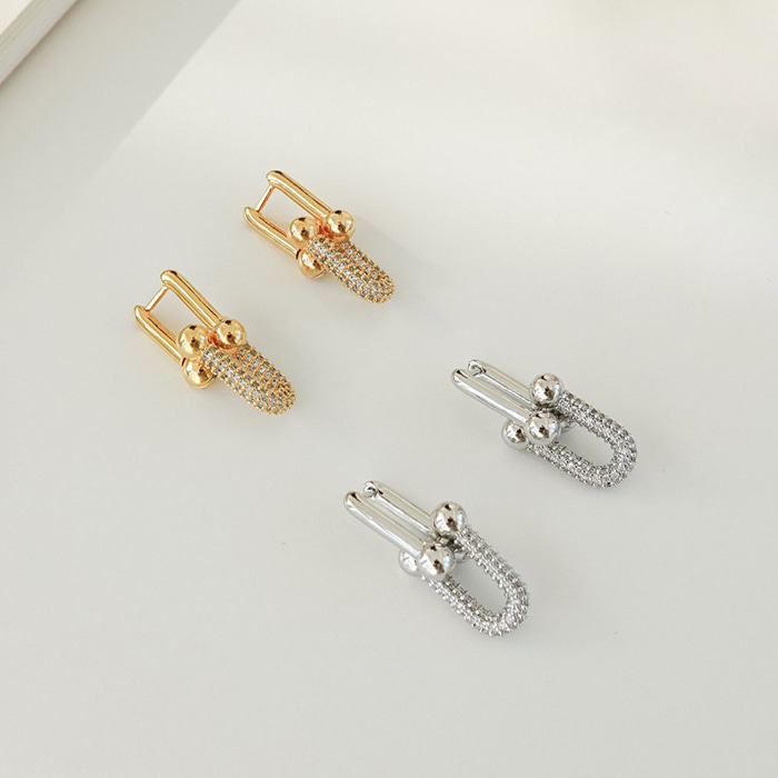 Gold-Plated Chain-Link Earrings