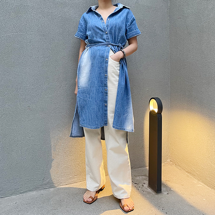 Ombre Denim Dress